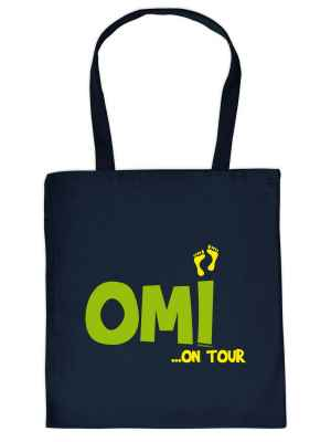 Stofftasche: Omi ? on Tour