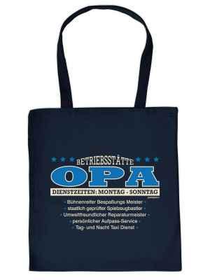 Stofftasche: Betriebsstätte Opa?