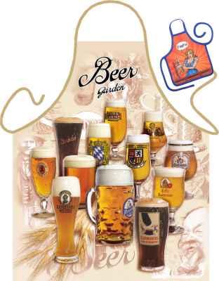 Motiv-Schürze mit kleiner Schürze: Beer Garden