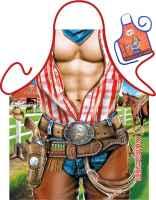 Motiv-Schürze mit kleiner Schürze: Cowboy  mit Urkunde