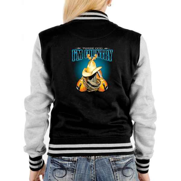 College Jacke Damen: Thand God I m Country