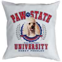 Kissen mit Füllung: Paw State University - Honey Poodles
