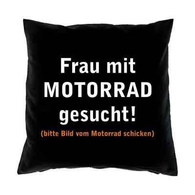 Kissen mit Füllung: Frau mit Motorrad gesucht (bitte Bild vom Motorrad schicken)