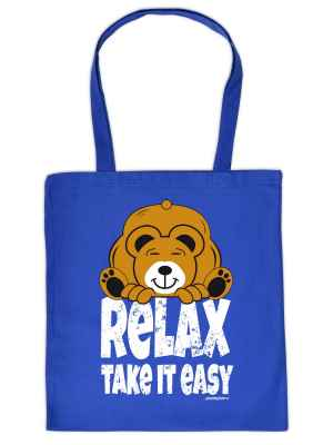 Stofftasche: Relax - take it easy