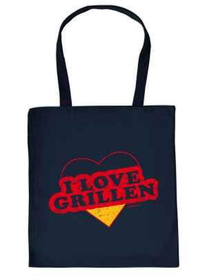 Stofftasche: I love grillen