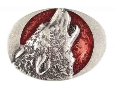 Gürtelschliesse: Wolf 7,2 x 5,5 cm
