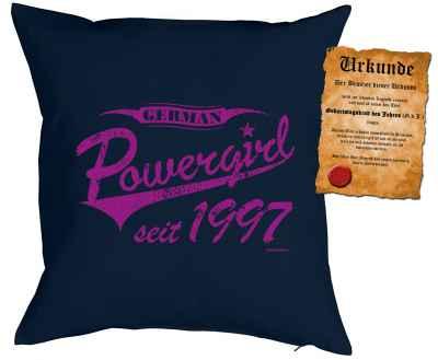 Kissen mit Füllung: German Powergirl seit 1997
