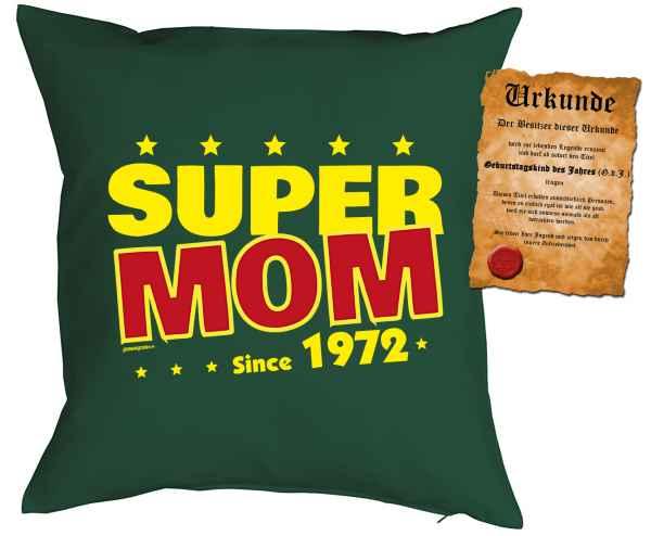 Kissen mit Füllung: Super Mom since 1972