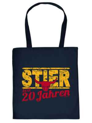 Stofftasche: Stier seit 20 Jahren