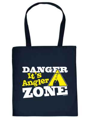 Stofftasche: Danger - It s Angler Zone