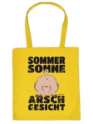 Stofftasche: Sommer, Sonne, Arschgesicht