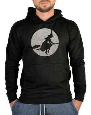 Kapuzensweater: Hexe im Mondschein