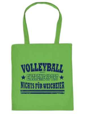 Stofftasche: Volleyball - Extremesport - Nichts für Weicheier!
