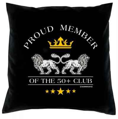 Kissenbezug: Proud Member of the 50+ Club