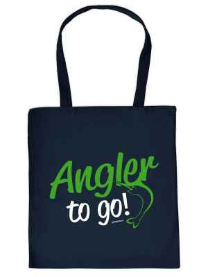 Stofftasche: Angler to go!