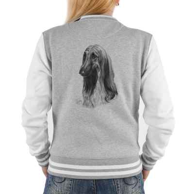 College Jacke Damen: Afghanischer Windhund