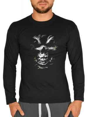 Langarmshirt Herren: Skull Head