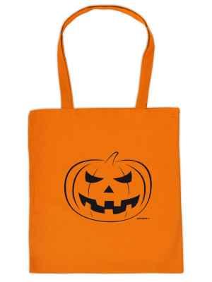 Stofftasche: Halloween - Kürbis