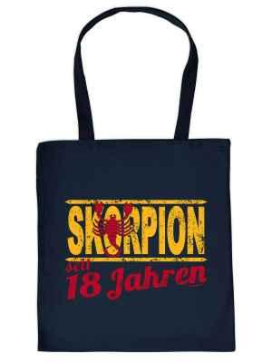 Stofftasche: Skorpion seit 18 Jahren