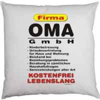 Kissen mit Füllung: Firma Oma GmbH ? kostenfrei, lebenslang