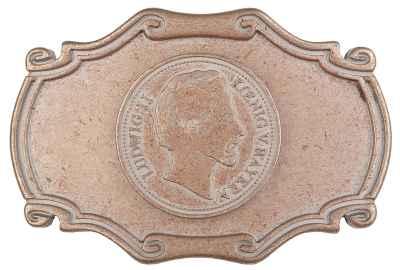 Gürtelschliesse: Ludwig II 8 x 5,5 cm 40 mm