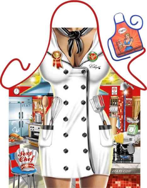 Motiv-Schürze mit kleiner Schürze: Sexy Chef