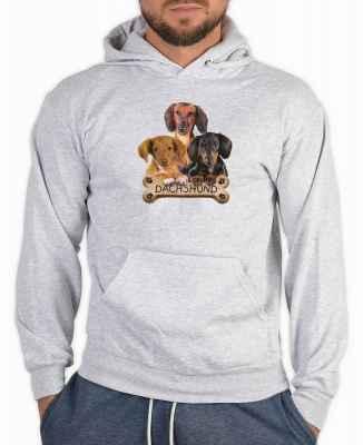 Kapuzensweater: 3 Dackel mit Knochen