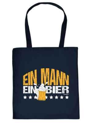 Stofftasche: Ein Mann ein Bier
