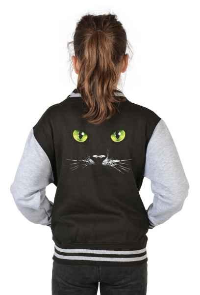College Jacke Kinder: Katzengesicht