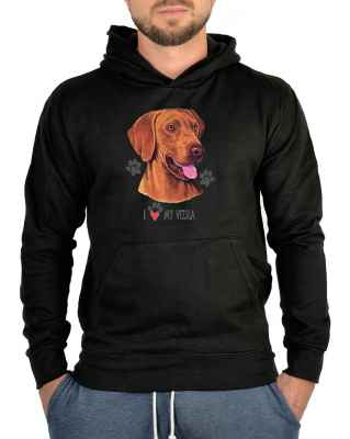 Kapuzensweater: I love my Viszla