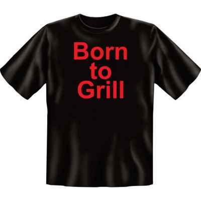 T-Shirt: Born zu Grill