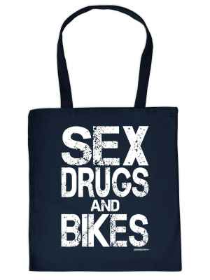 Stofftasche: Sex, Drugs and Bikes