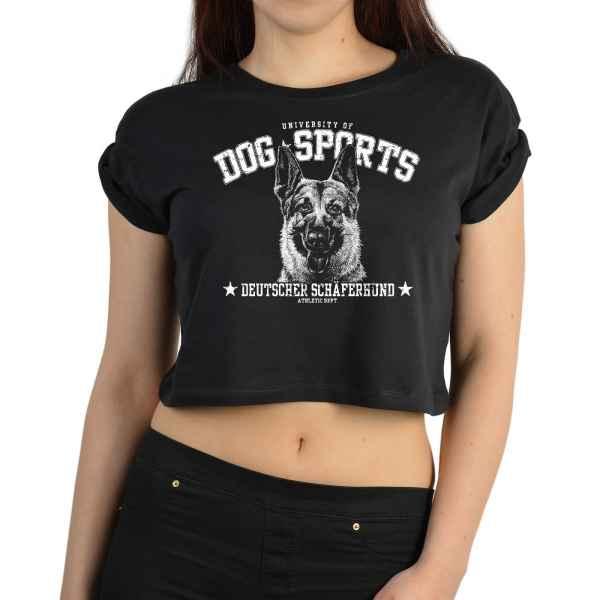 Crop Top Damen: University of Dog Sports - Deutscher Schäferhund
