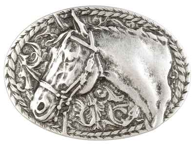 Gürtelschliesse: Pferdekopf 8,3 x 6 cm 40 mm