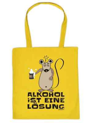 Stofftasche: Alkohol ist eine Lösung