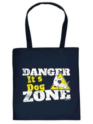 Stofftasche: Danger - It s Dog Zone