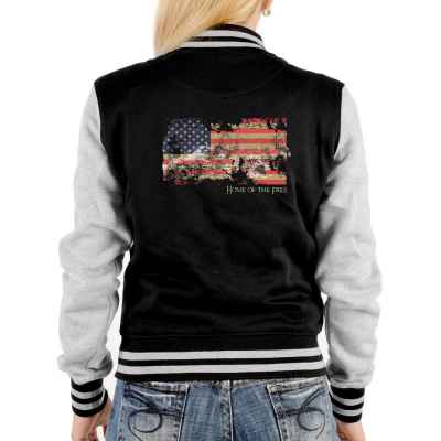 College Jacke Damen: American Flag - Home of the Free