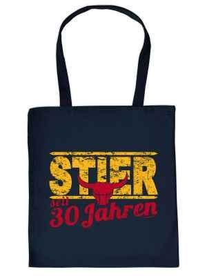 Stofftasche: Stier seit 30 Jahren