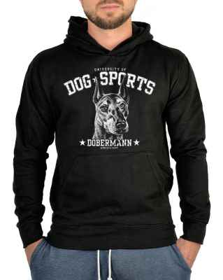Kapuzensweater: University of Dog Sports - Dobermann