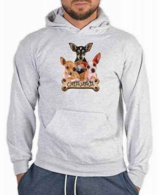 Kapuzensweater: 3 Chihuahua with Bone