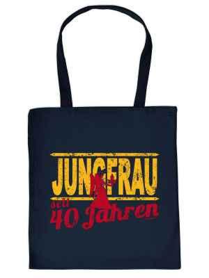 Stofftasche: Jungfrau seit 40 Jahren