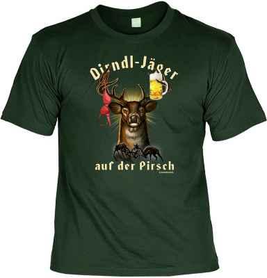 T-Shirt: Dirndl-Jäger auf der Pirsch