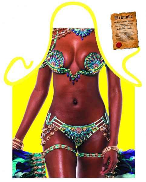 Themenschürze mit Gratis Urkunde: Brazil Girl