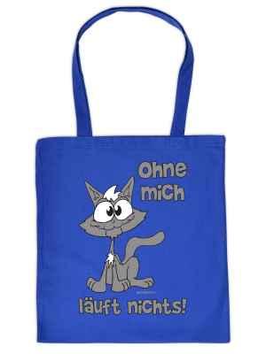 Stofftasche: Katze - Ohne mich läuft nichts!