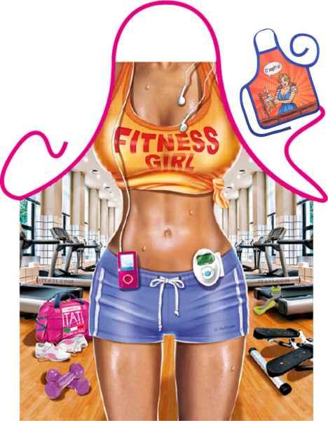 Motiv-Schürze mit kleiner Schürze: Fitness Girl