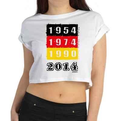Crop Top Damen: Fussball WM 1954 - 1974 - 1990 - 2014