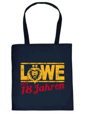 Stofftasche: Löwe seit 18 Jahren