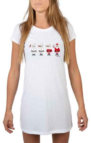 Nachthemd Damen: Weihnachtsmänner