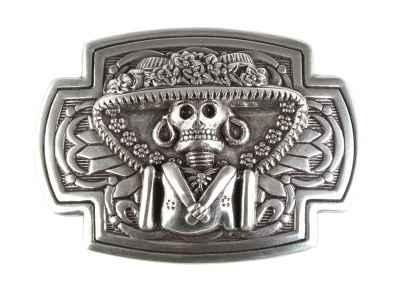 Gürtelschliesse: Skull 9 x 6 cm